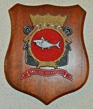 HNLMS Tonijn plaque shield crest Dutch Navy submarine gedenkplaat  Hr.Ms. Zr.Ms.