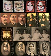 HORROR BILDER SET 7x Halloween Wand-Dekoration Effekt-Ahnengalerie Grusel-Party
