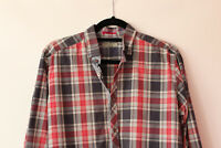 "Ted Baker 'Onslow' Check Shirt Red Blue Purple Plaid 21"" Pit To Pit Size 4 UK L"