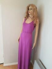 ASOS Maternity Long Purple Pregnancy Dress With Belt Uk Size 10