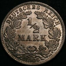 1/2 Mark 1906 A - Germany (Empire) - AU/BU