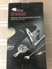 New Wine Enthusiast Stainless Steel Essential Bar Tool Set 6 Pieces - Great Gift