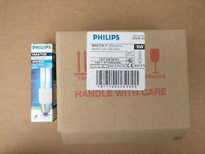Box of 10 Philips Master PL-Electronic 8W/827 Warm White 8 Watt 15,000 hrs= 40W