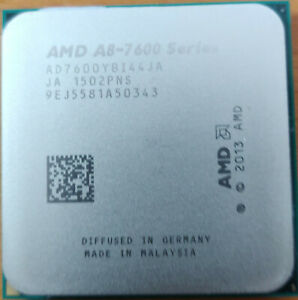 amd a8-7600, 4 cores cpu, 6 cores gpu, base 3,1 GHz, boost up to 3,8 GHz
