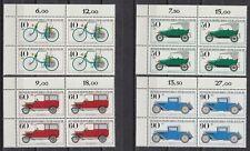 Germany Berlin 1981 ** Mi.660/63 Bl/4 Automobil historisch Daimler [da235]
