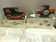 Ertl1923 1/2 Ton Chevy Deliver Truck & 1918 Ford Model T Runabout Banks Wth Keys