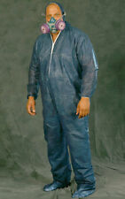 Case of 25 Disposable BLUE Polypropylene Coverall Bunny Suit Hood Boots Zip XL
