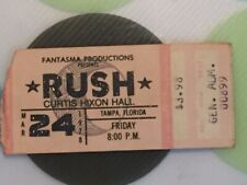Rush - 1978 A Farewell to Kings Concert Ticket Stub - Tampa, Fl Ships Free
