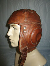 RARE EARLY US ARMY AIR FORCE WESTERN ELECTRIC A-1 LEATHER FLIGHT HELMET