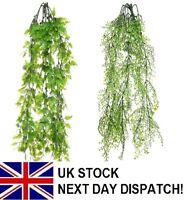 63cm Artificial Plastic Trailing Mini Leaf Bush Ivy Fern Foliage Plant Flower