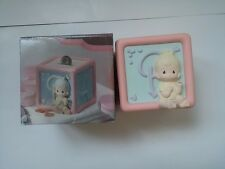 The Enesco Precious Moments Collection 1990 Plastic Baby Block Bank