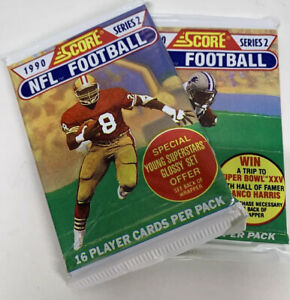 1990 Score Series 2 NFL Football Trading Cards x2 Packs 16 Cards/Pack New Sealed