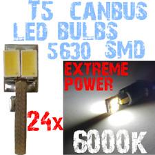 24 LED T5 5630 SMD 6000k Blanc Tableau de Bord Compteur Voiture Ampoule 12V 1E11
