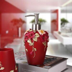 Bath Resin Elegant Liquid Soap Dispenser Bottle Lotion Dispenser Pump Holder