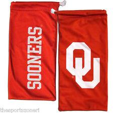 Oklahoma Sooners All In One Microfiber Eyewear Storage Bag / Cleaning Cloth