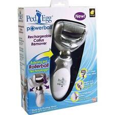 PedEgg Powerball Callus Remover Rechargeable Pivoting with LED Guide Light