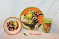 New Shrek 4 Piece Dinnerware Set