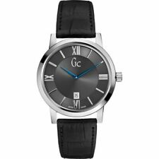 GUESS COLLECTION GC Men's Slim Class Black Leather X60003G5S Watch