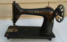 Antique Singer 66 Treadle Sewing Machine Head 1918 Red Eye Decals + Manuel