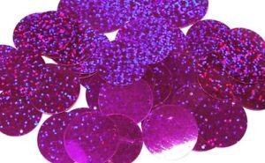 100 Gramm Pailletten-Geld 20mm Farbe: Violett Dunkel