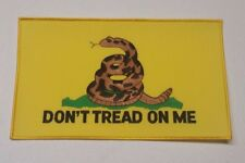 "GADSDEN FLAG PATCH  ""DON'T TREAD ON ME""  11"" wide x 6.75"" tall Iron-Sewn on"