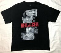 Wwe Wrestling Hell In A Cell John Cena Mens Black S/S T-Shirt Sz Large A1