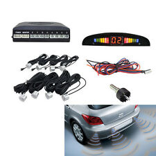 Einparkhilfe 8 Sensoren Auto Rückfahrwarner Rückfahrsystem Parksensoren Silber