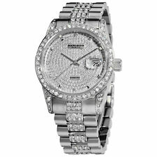 Men's Akribos XXIV AK486SS Silver-tone Diamond Stainless Steel Bracelet Watch