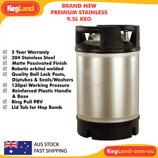 Kegland 9.5L (2.5gallon) Brand New Premium Stainless Steel Ball Lock Keg Party