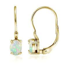Silver Plated Drop/Dangle Oval Fine Gemstone Earrings
