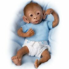 "Bobo Baby Monkey Doll - 16"" by Ashton Drake New NRFB"