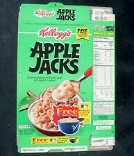 Kellogg's Apple Jacks Flattened Cereal Box 1995 Baseball Helmet Cereal Bowl