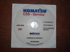 KOMATSU PC1800 PC2000 PC3000 PC4000 PC8000 EXCAVAT SERVICE SHOP REPAIR MANUAL CD