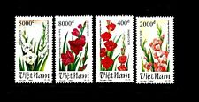 NORTH VIET NAM Sc 2512-15 NH issue of 1994 - FLOWERS