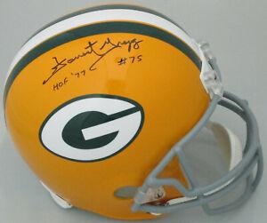 Packers FORREST GREGG Signed Full Size Riddell Throwback Replica Helmet w/HOF 77