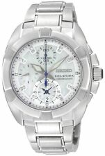 New Seiko Velatura Chronograph woman Watch SNDZ19