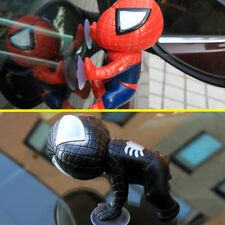 Set Red + Black Auto Car part Spider-man Doll Lovely Car Accessories sucker