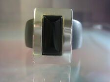 modernes Solo-Köpfchen - Onyx in 925er Silber - kompatibel mit Charlotte 21 Ring