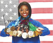 SIMONE BILES Signed 8 x 10 Photo USA Gymnastics Olympics Reprint
