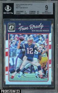 2016 Donruss Optic Holo Prizm #62 Tom Brady New England Patriots BGS 9 w/ 9.5