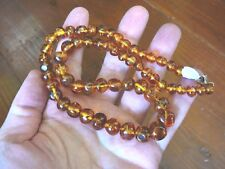 "(PB-416) Real Baltic AMBER graduated beaded Jewelry 18"" long NECKLACE Organic"
