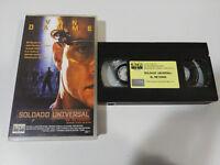 Soldat Universal Van Damme Rückkehr - VHS Kassette Tape Spanisch