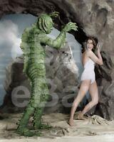 Criatura de The Black Lagoon (1954) Ben Chapman, Julie Adams 10x8 Foto