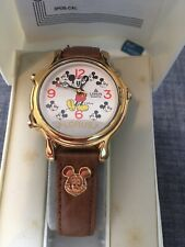 Lorus Disney Mickey Mouse Melody Watch Mickey Leather Band Never Worn RWC002