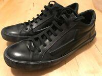 Saint Laurent Men's  Black Leather Sneakers Rare High End US 41.5