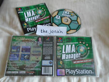 LMA Manager PS1 (COMPLETE) black label football managerment Sony PlayStation