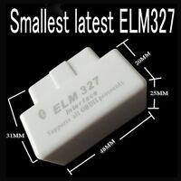 White MINI ELM327 interface Bluetooth OBD2 V1.5 Support All OBDII Protocols