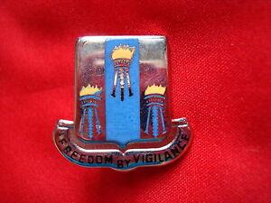 "Korea War US 502nd Military Intelligence Bn ""FREEDOM BY VIGILANCE"" Insignia Pin"