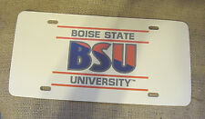 BOISE STATE UNIVERSITY  BSU LICENSE PLATE TAG PLASTIC AUTOMOBILE CAR NEW