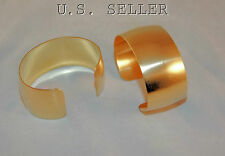 "Brass Bracelet Cuff Blanks For Jewelry Making 1.5"" Domed Pkg Of 2"